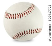 Baseball Ball Isolated With...