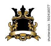 cool royal flourish shield... | Shutterstock .eps vector #502418377