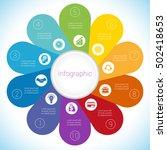 flower camomile infographic... | Shutterstock .eps vector #502418653