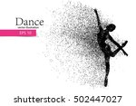 silhouette of a dancing girl of ... | Shutterstock .eps vector #502447027