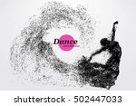 silhouette of a dancing girl of ... | Shutterstock .eps vector #502447033