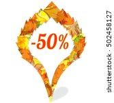 sale label  sticker for big... | Shutterstock .eps vector #502458127