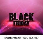 black friday sale background... | Shutterstock .eps vector #502466707