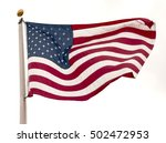 us flag or american flag waving | Shutterstock . vector #502472953
