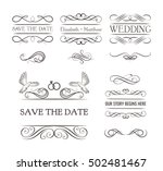 wedding ornaments decorative... | Shutterstock .eps vector #502481467