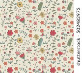 floral seamless pattern with...   Shutterstock .eps vector #502482973