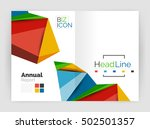 3d low poly shapes design for... | Shutterstock .eps vector #502501357