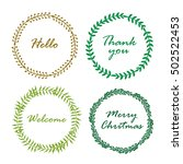 collection of vintage merry... | Shutterstock .eps vector #502522453