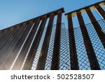 A section of the border fence...