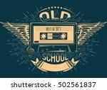 old school music emblem   Shutterstock .eps vector #502561837