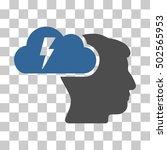 cobalt and gray brainstorming... | Shutterstock .eps vector #502565953