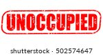 unoccupied red stamp on white... | Shutterstock . vector #502574647