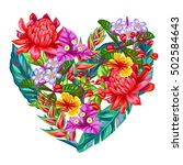 decorative heart with thailand... | Shutterstock .eps vector #502584643