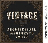 vintage western alphabet. with... | Shutterstock .eps vector #502610647