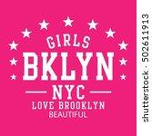 athletic sport girl typography  ... | Shutterstock .eps vector #502611913