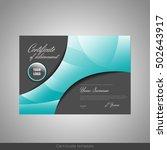 certificate of achievement ... | Shutterstock .eps vector #502643917