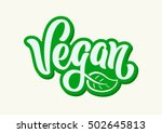 vegan vector lettering sign... | Shutterstock .eps vector #502645813