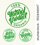 vegan 100  natural product... | Shutterstock .eps vector #502646047