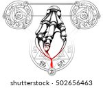 hand grips heart the characters ... | Shutterstock .eps vector #502656463