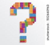 vector illustration. question... | Shutterstock .eps vector #502660963