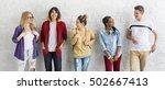 diversity students friends... | Shutterstock . vector #502667413
