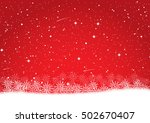 snowflake on red christmas... | Shutterstock .eps vector #502670407