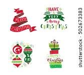 vector set of  holiday... | Shutterstock .eps vector #502673383