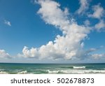 big white clouds above atlantic ... | Shutterstock . vector #502678873