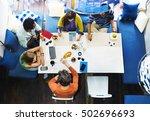 ideas creativity planning... | Shutterstock . vector #502696693