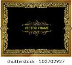 gold photo frame with corner... | Shutterstock .eps vector #502702927