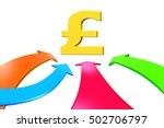 four color arrows go toward... | Shutterstock . vector #502706797