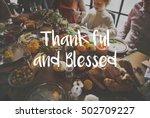 thanksgiving blessing... | Shutterstock . vector #502709227