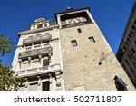 clock tower in geneva ... | Shutterstock . vector #502711807