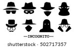 incognito icons. collection of...