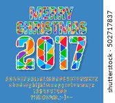 vector bright patched merry... | Shutterstock .eps vector #502717837