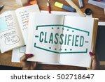 inspected classified original... | Shutterstock . vector #502718647