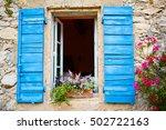 part of provencal house of... | Shutterstock . vector #502722163