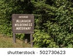 entering allagash wilderness... | Shutterstock . vector #502730623
