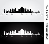 San Diego Usa Skyline And...