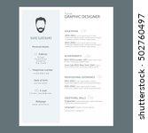resume cv template | Shutterstock .eps vector #502760497