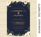 wedding invitation card... | Shutterstock .eps vector #502768573