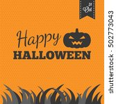 happy halloween and 31 october... | Shutterstock .eps vector #502773043