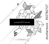 geometric background template... | Shutterstock .eps vector #502782727