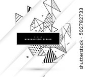 geometric background template... | Shutterstock .eps vector #502782733