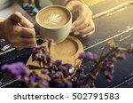 coffee morning  in a cafe. | Shutterstock . vector #502791583