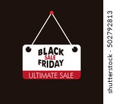 black friday text over red and... | Shutterstock .eps vector #502792813
