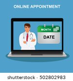 online appointment  doctor... | Shutterstock .eps vector #502802983