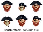 collection of graphic portraits ... | Shutterstock .eps vector #502804513