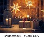 3d rendering. beautiful gift... | Shutterstock . vector #502811377