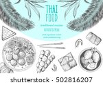 asian food background. asian... | Shutterstock .eps vector #502816207